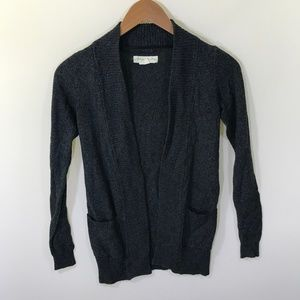 Anthro Staring at Stars Gray Open Cardigan XS